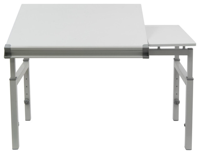 Graphix Ii Workstation, White And Gray, 24x36.