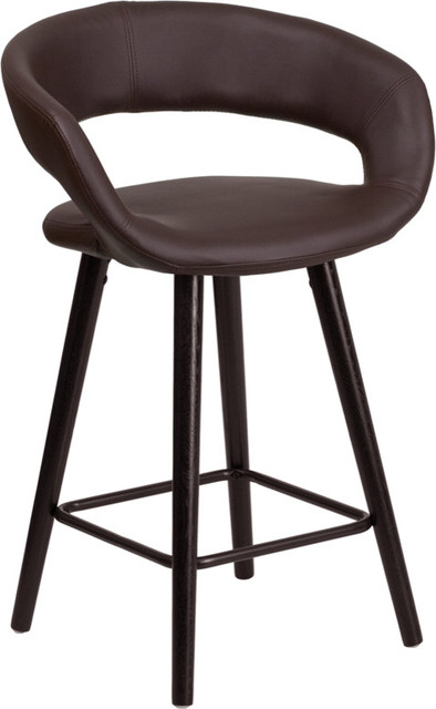 Flash Furniture 24 High Black Vinyl Counter Height Stool