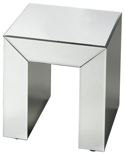 "Butler Loft Mirrored 17 3/4"" Bunching Table."