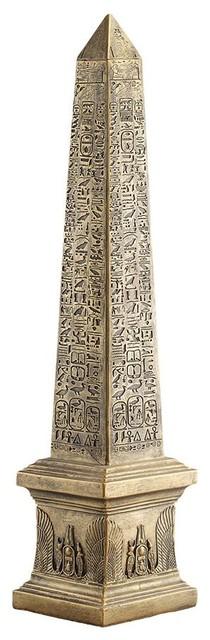"Ancient Egyptian Decorative Obelisk Monument Sun Miniature 3/""H Figurine Statue"
