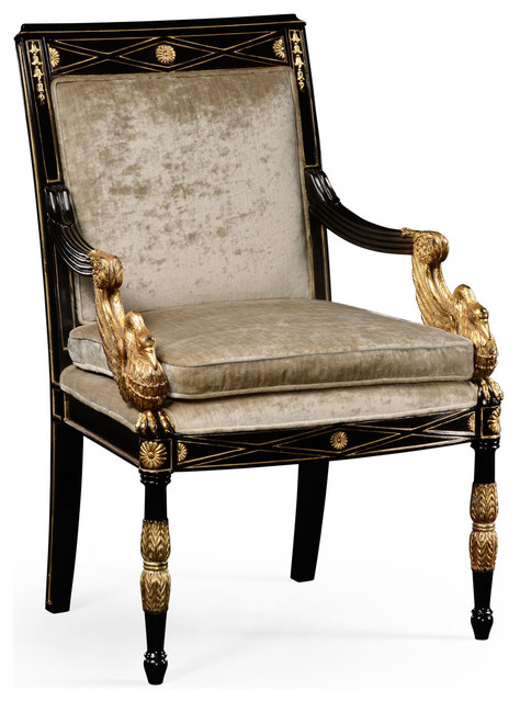 French Empire Style Armchair Victorian Armchairs And