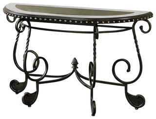 how to lay tile in the bathroom rosemont scrolled base sofa table w black inlaid top in 26142