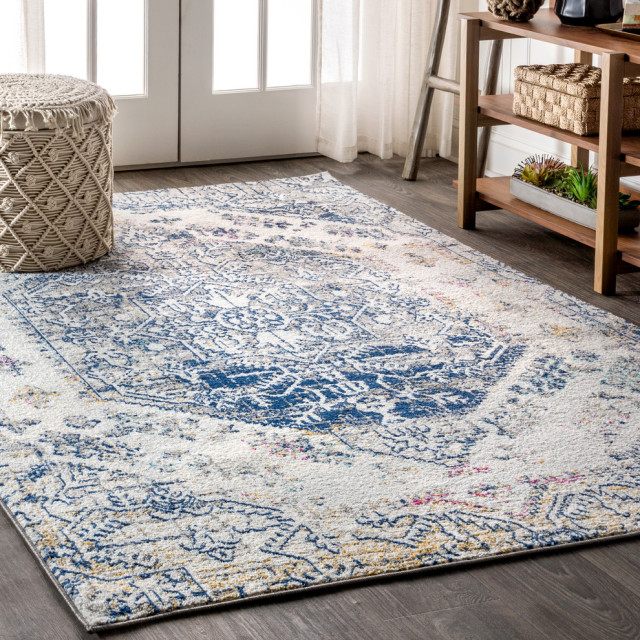 Modern Persian Boho Vintage Area Rug Mediterranean Area Rugs By Jonathan Y Houzz