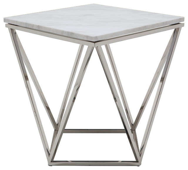 Jasmine Side Table, Stainless Steel.