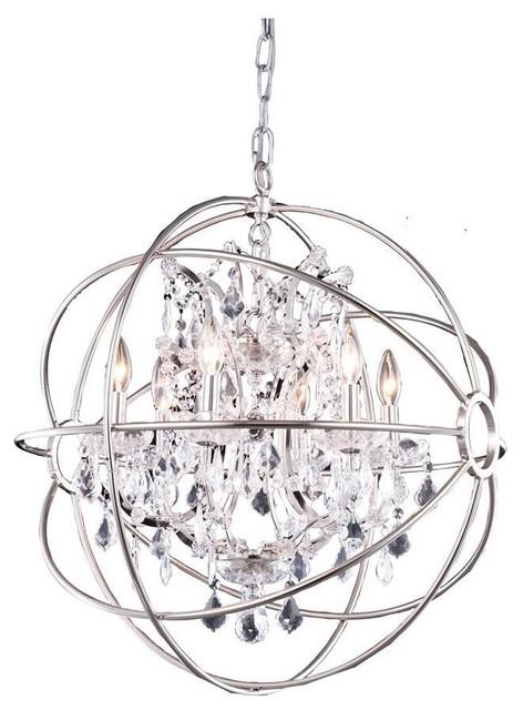 elegant 1130 geneva collection chandelier  polished nickel - traditional - chandeliers