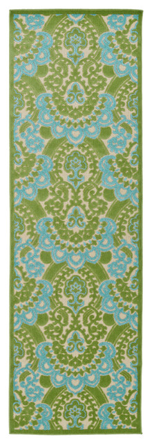 Kaleen A Breath Of Fresh Air Collection Rug, Green, 2&x27;6x7&x27;10.