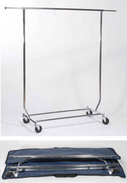 Rolling Garment Rack And Carrying Case, Rack With Carrying Case.