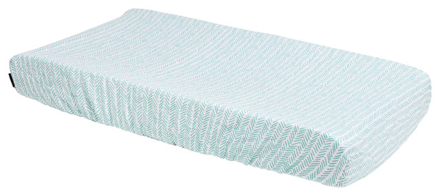 Zig Zag Bebe au Lait Muslin Changing Pad Cover