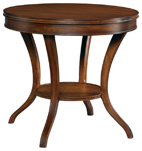 Hickory White Round Lamp Table 303 20 Transitional