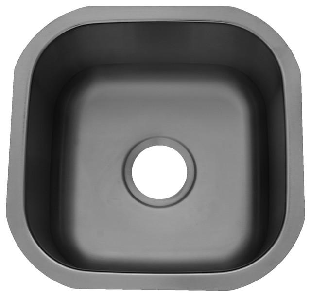 Century Cantina, 8 Gauge Stainless Steel Bar Sink, ...