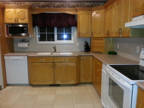 90's oak cabinets, to paint or not to paint