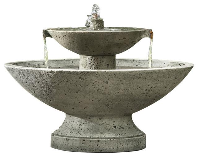 Jensen Garden Water Fountain Aged Limestone