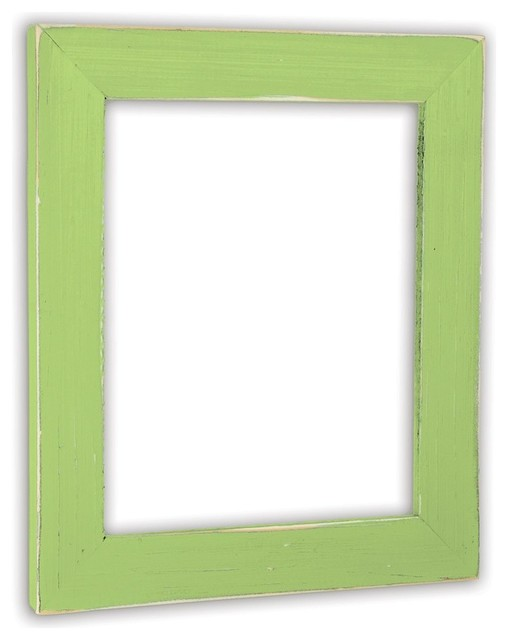 """Vintage Green Apple Picture Frame, Solid Wood, 18""""x24"""""""