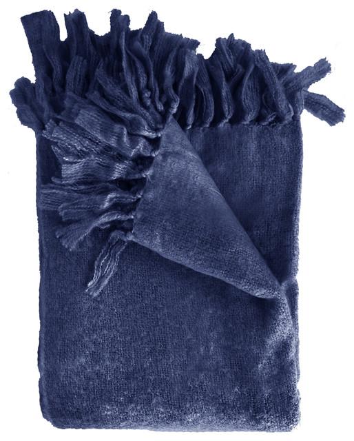Liz Throw Blanket, Navy