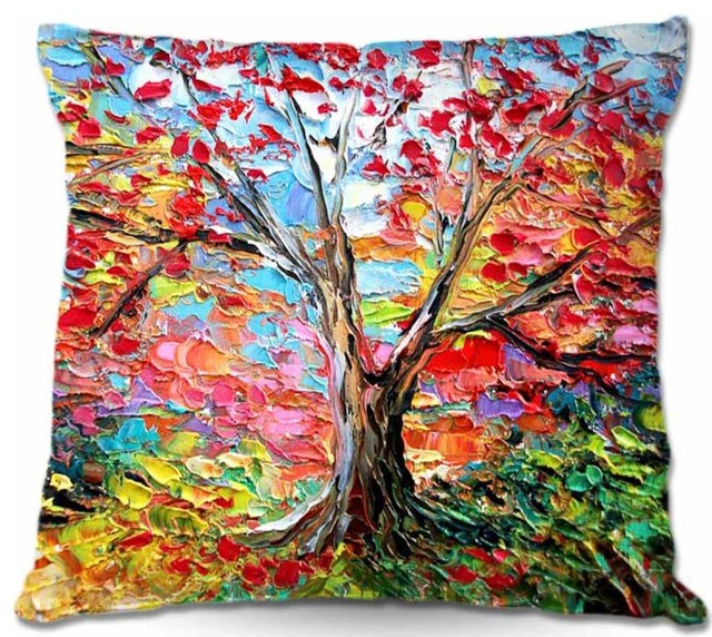 dianoche throw pillows story of the tree 59 small 16 x 16 contemporary - Decorator Pillows