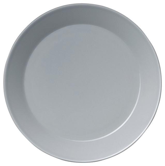 Teema Pearl Gray Dinnerware - Contemporary - Dinner Plates - by ...