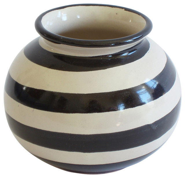 Small Round Vase Contemporary Vases By Emilia Ceramics