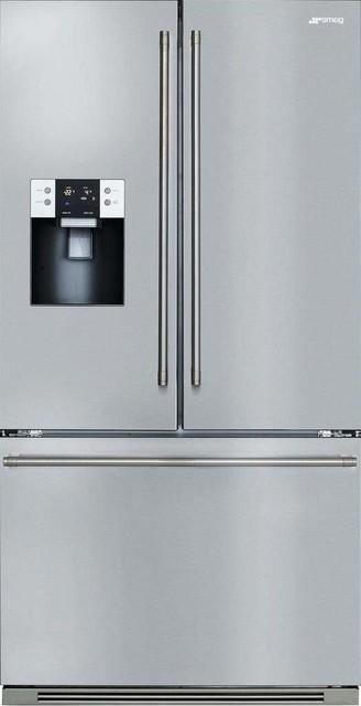 Smeg Ftu171x7 36 Energy Star French Door Refrigerator Stainless Steel.