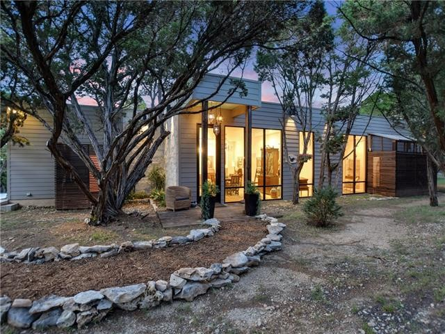 Example of a minimalist exterior home design in Austin