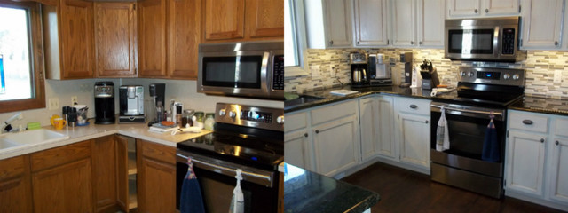 N Hance Cabinet Color Change Before U0026 After Photos Traditional Kitchen