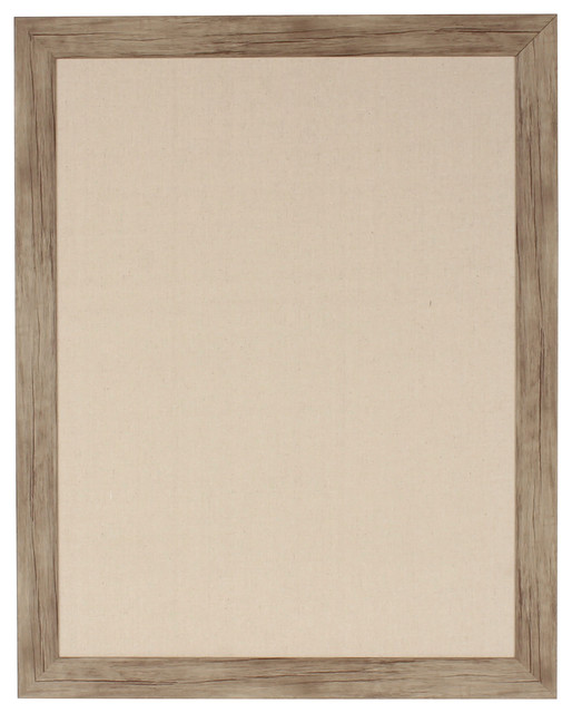 Beatrice Rustic Brown Framed Fabric Pinboard.