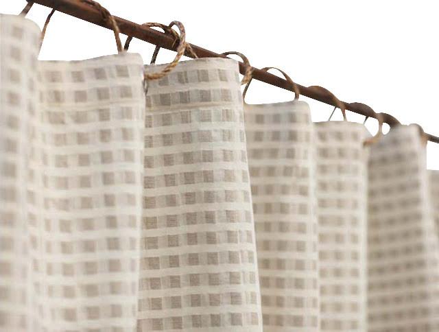 Coyuchi® Cotton and Linen Shower Curtain - Farmhouse - Shower ...