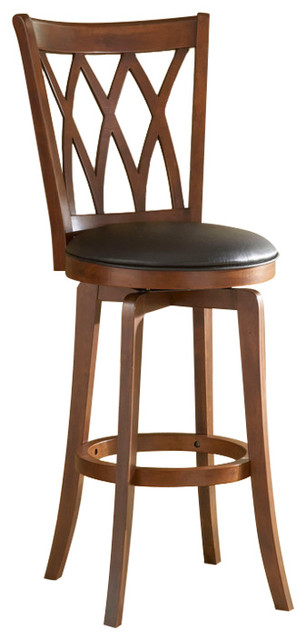 Hillsdale Furniture Mansfield Swivel Counter Stool Brown