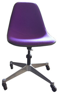 purple eames rolling chairs - 5 available - $1,099 est. retail