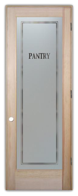 Pantry Door Classic Design Frosted Glass Door Craftsman Interior Doors By Sans Soucie Art