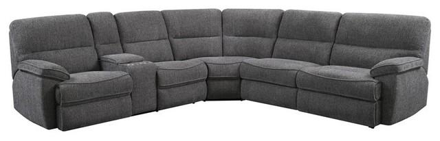 Pemberly Row Baron Platinum Full Sleeper Sectional With 4 Memory Foam Mattress