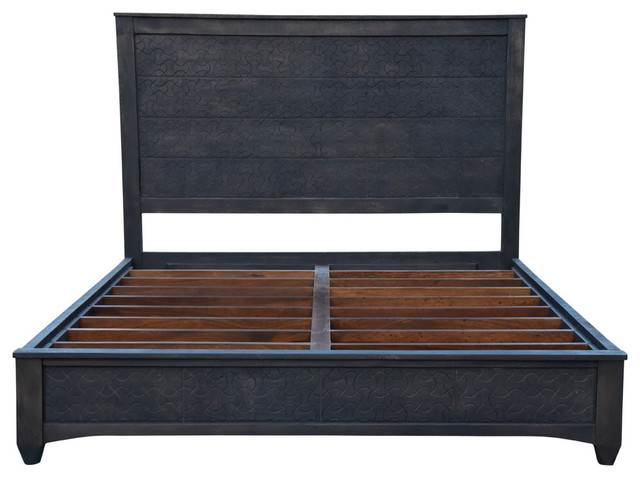 Gridley Cal King Bed, Gray Wash.