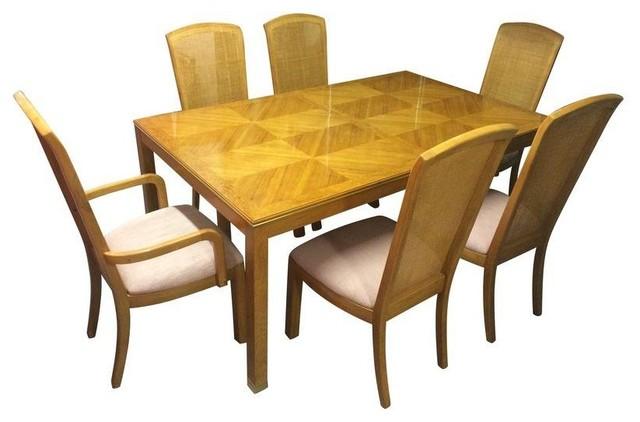 Superb Thomasville White Birdu0027s Eye Maple Dining Set Modern Dining Sets