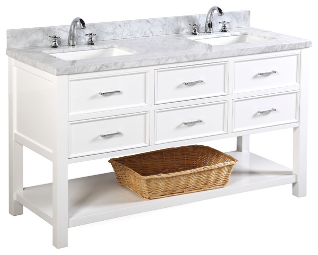 new hampshire 60 double bath vanity contemporary bathroom vanities and sink consoles by