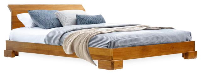 Harmonia Living Kobe Platform Bed, California King, Danish Honey.