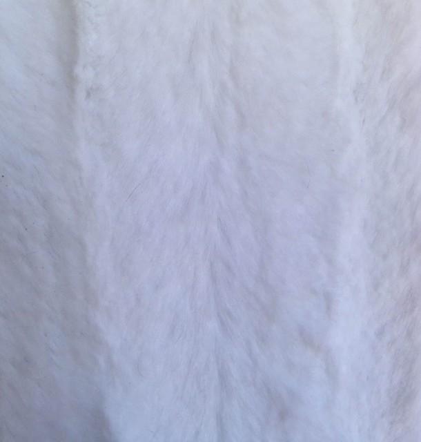 Faux Mink Velvet Fabric, White