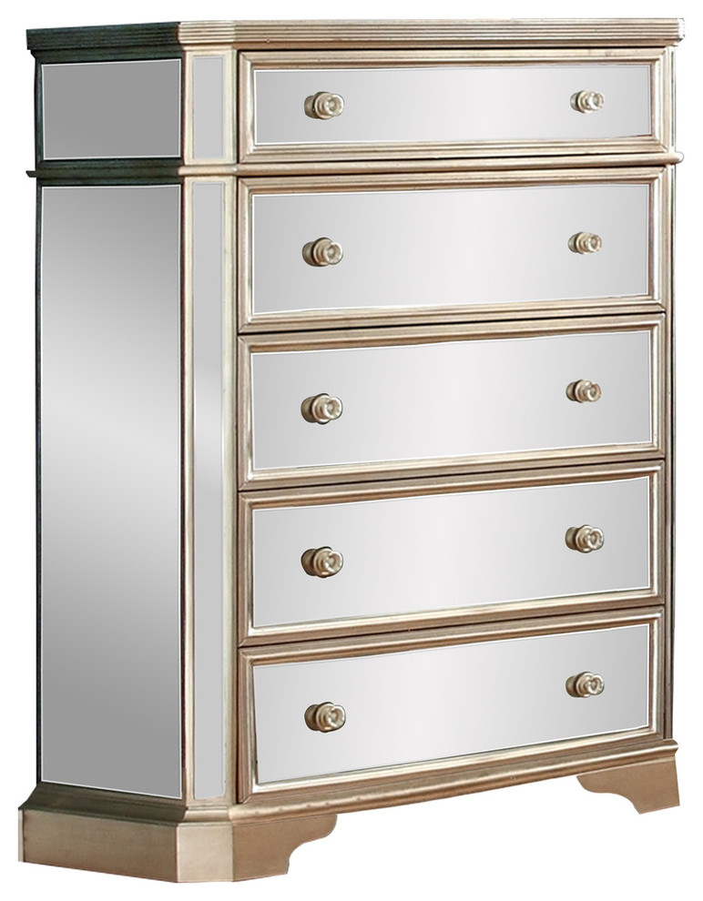 Borghese Mirrored 5 Drawer