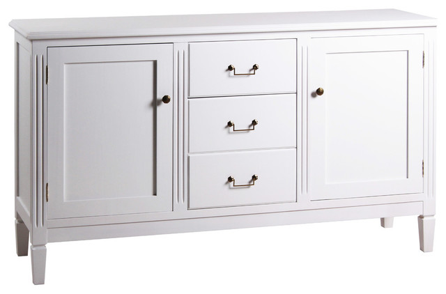 Symmetrical Traditional Sideboard, White