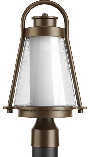 1-Light Med. Post Lantern, Antique Bronze.
