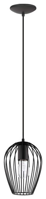 1x75w Pendant With Matte Black Finish.
