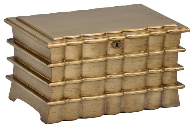 Polished Gold Finish Keepsake Box