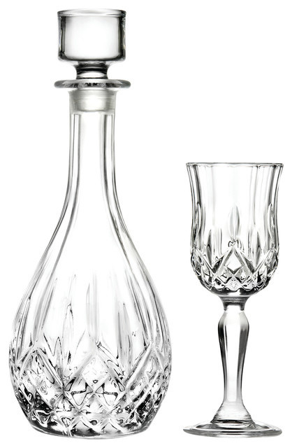 Opera 7-Piece Decanter and Liqueur Glasses Set