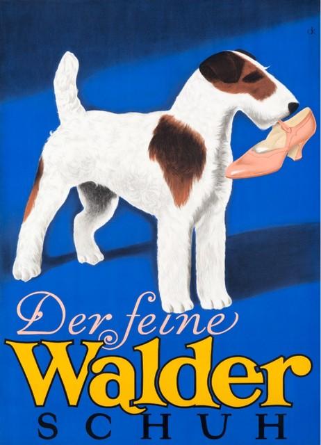 """""""walder Schuh Vintage Poster Switzerland 1930"""" Print, 24""""x36""""."""