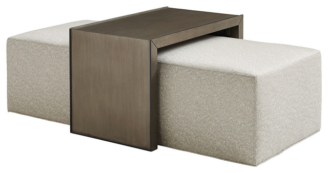 Savona Cocktail Ottoman With Slide Transitional Footstools And Ottomans By Lexington Home Brands