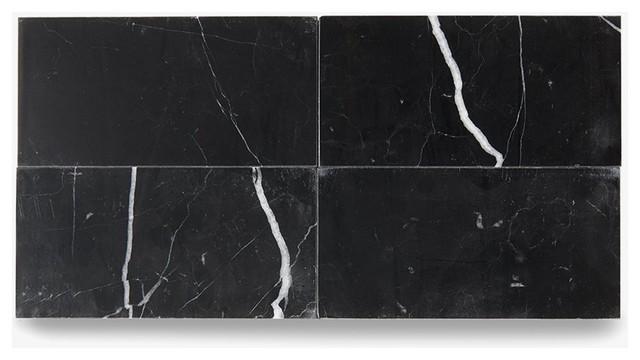 Waterworks Studio Stone Field Tile 3 X6 Black