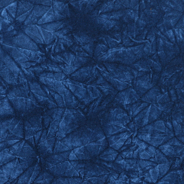 Blue Classic Crushed Velvet Upholstery Fabric By The Yard
