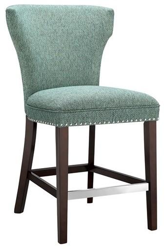 Churchill counter stool teal contemporary bar stools and counter stools by olliix - Teal blue bar stools ...
