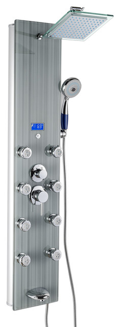 Levato Shower Panel Tower With Rainfall Showerhead