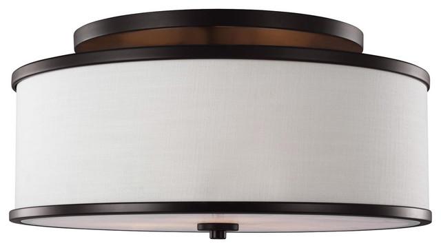 Feiss Barrington 2 Light Vanity Fixture Oil Rubbed Bronze: Feiss SF339 Lennon Semi-Flush Mount