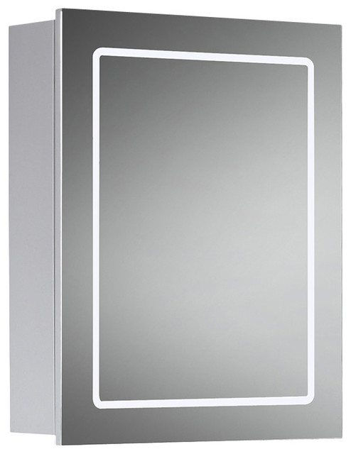 Cassini Mirrored Medicine Cabinet With Led Border