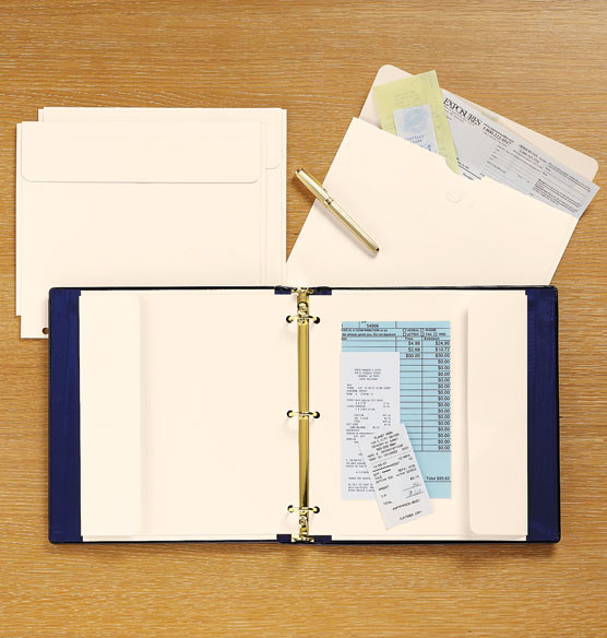 Expandable Receipt and Brochure Folder Set of 2 - Traditional - Desk Accessories - by Exposures